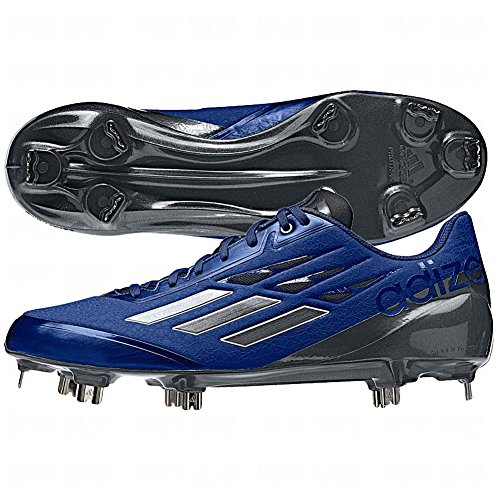 Adidas Adizero Afterburner Mens Baseball Cleat 6.5 nero-carbonio-carbonio Met Royal-White-Carbon Met