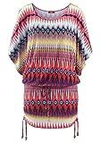 Buffalo Damen Marken-Longshirt, Bunt-Gestreift