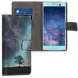 kwmobile Sony Xperia XA2 Hülle - Kunstleder Wallet Case für Sony Xperia XA2 mit Kartenfächern und Stand