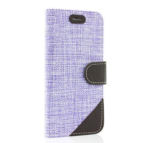Urcover® iPhone 6 6S Hülle, Smartphone Handytasche mit [ Kartenfach & Magnet ] Bookstyle Flip Wallet Case Handyhülle für Apple iPhone 6 / 6S Farbe: Rot Lila