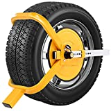 COSTWAY Radkralle Parkkralle Wegfahrsperre Reifenkralle Diebstahlsicherung Radsicherung Auto Pkw Anhänger 13-15 Zoll