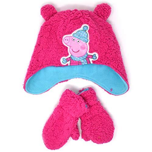Peppa Pig Hut und Handschuhe Set (2-6 Jahre, Rosa) (Hut Peppa Pig)