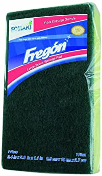 Fregon Jumbo Green Fiber Sponges, 6 Per Box