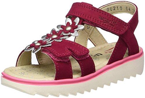 Superfit Elly, Sandales  Bout ouvert fille Pink (pink Kombi)