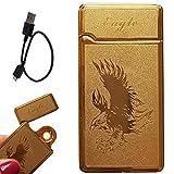 Briquet électronique USB rechargeable par câble USB - Aigle Eagle Or