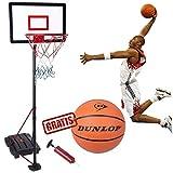 Vetrineinrete Canestro Basket con piantana e tabellone su Ruote Altezza Regolabile da 165 cm a 205 cm Sport Pallacanestro Gioco Bambini da Giardino 28730