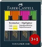 Faber-Castell 254831 Textmarker TEXTLINER 48 Refill, 4er Etui