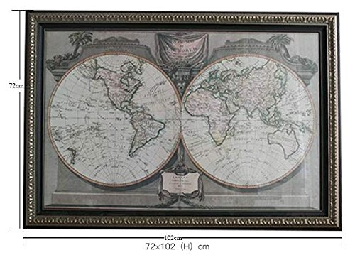 Un nuovo giorno arte muro dipinto decor su tela Home Decor Living Studio di camera sala da pranzo camera da letto Club 72 * 102cm , world map decorative painting