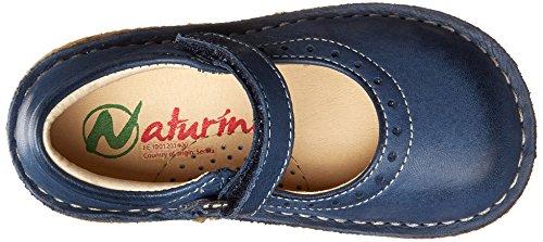Naturino NATURINO 4875, Ballerines fermées fille Bleu - azul - Blau (Navy Cuc.Grigio 9101)