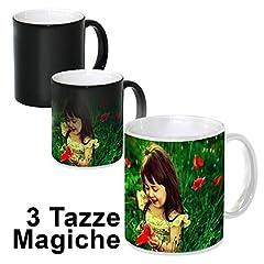 Idea Regalo - Set 3 Tazze Personalizzate Magiche Termosensibili