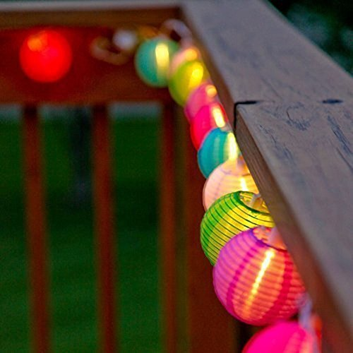Samoleus 20 Lanterne Boule Lumières IP65 Étanche Solar Powered Noël String s'allume pour Extérieur, Patio, Jardin, Vacances, Fête, Mariage (Couleur)