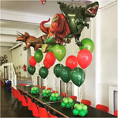Uniqus Globos de Papel de Aluminio con diseño de Dinosaurio con dragón Grande, Globos de Helio y Globos del Mundo jurásico
