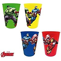 Los Vengadores (Avengers) - Set 4 vasos plastico (Suncity AVD102087)