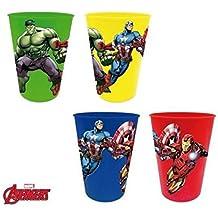 Los Vengadores (Avengers) -Los Set 4 Vasos plastico (Suncity AVD102087)