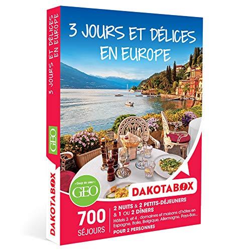 DAKOTABOX - 3 jours et délices en Europe - Coffret Cadeau Séjour Gourmand - 2 nuits...