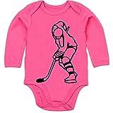 Sport Baby - Eishockey - 3-6 Monate - Fuchsia - BZ30 - Baby Body Langarm