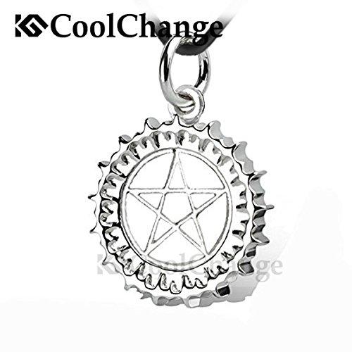 CoolChange Black Butler Halskette mit Zeichen des Paktes Anhänger von Earl Ciel Phantomhive aus echtem 925 Sterlingsilber