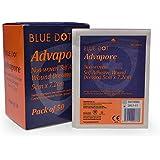 Blue Dot Advapore Adhesive Non-Woven Fabric Dressings (Box of 50) (5cm x 7.2cm)