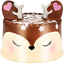 LEvifun Jumbo Squishies Toy Fun Kawaii Fox Cake Slow Rising Scented Squishies Charms Cute Squeeze Toy Gift for Kids Adult Lovely Toy
