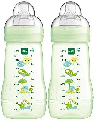 MAM 99957420 - Easy Active Baby Bottle 270 ml, Babyflasche, Doppelpack Neutral