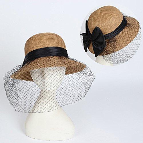 Westeng Sombrero de Paja para Niños Flores Bastante Sombrero al Aire Libre  Anti-UV size ... 57dff9dd06f