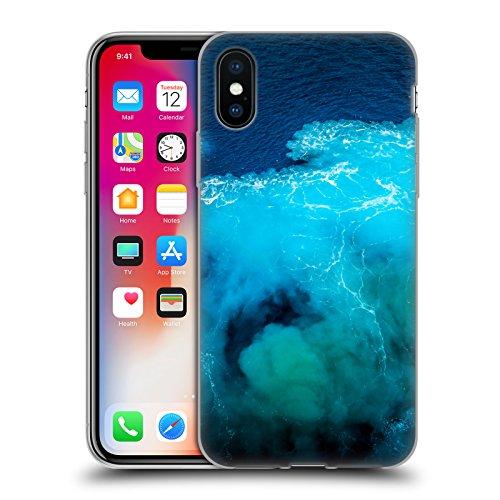 Offizielle Haroulita Strömung Santorini Meer Soft Gel Hülle für Apple iPhone 5c Wasser Schaum