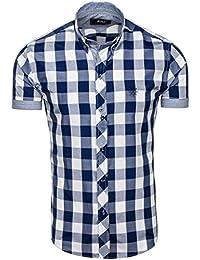 BOLF – Chemise casual – Chemise à carreaux – Homme – Motif – 2B2