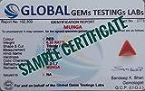 LMDPRAJAPATIS PRAJAPATI GEMS Certified Unheated Untreated 7.25 Ratti 6.75 Carat A+ Natural Red Coral Moonga Loose Gemstone for Women and Men