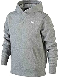 Nike Sweatshirt Young Athlete 76 Brushed Fleece Over The Head Sudadera, Niños, Gris (dk Grey Heather/White), L