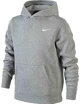 Nike B NK HOODIE YA76 BF OTH Sudadera, Niños, Gris (DK GREY HEATHER/WHITE), L