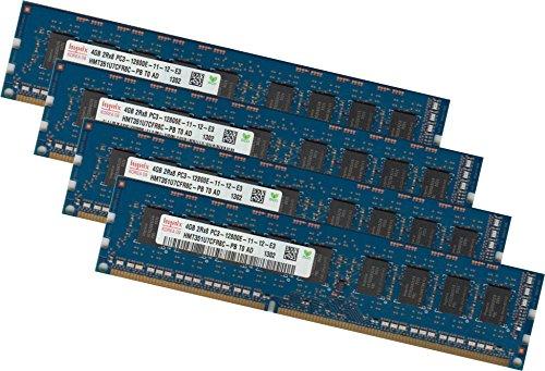 Hynix 16GB 4x 4Gb DDR3 1333 Mhz ECC UDIMM Server Speicher PC3-10600E Ram