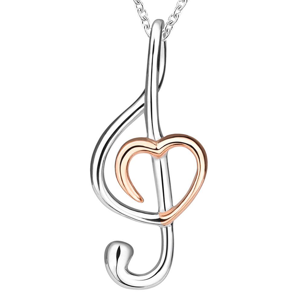 musical pendant set cat necklace p note women romwe