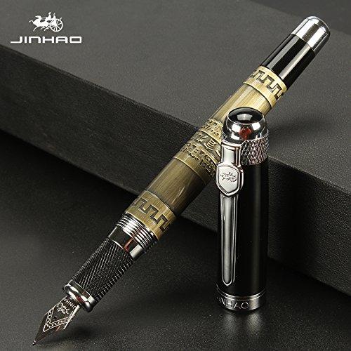 Jinhao 189 Luxus Füllfederhalter Bronze 18 KGP Medium Nib kalligraphie füller