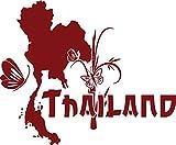 GRAZDesign 630292_57_030 Wandtattoo Wohnzimmer Sticker Thailand Länder Welt Karte Erde Kontinent Schmett (69x57cm//030 dunkelrot)