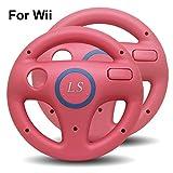 LS 2x Lenkrad Racing Wheel für Nintendo Wii - Rosa