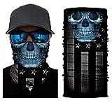 BJ Global multi uso unisex bandane maschera senza sciarpa scaldacollo moto bici