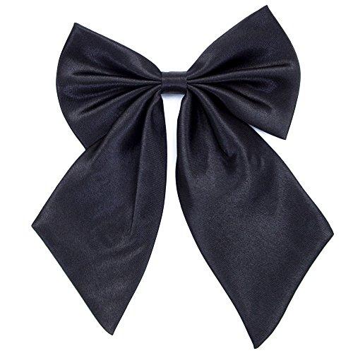 Damen Fliege Schleife Binder Schlips - 28 ~ 49 cm Länge Verstellbare Bowknot Krawatten (Schwarz) (Schwarz Passt Krawatte)
