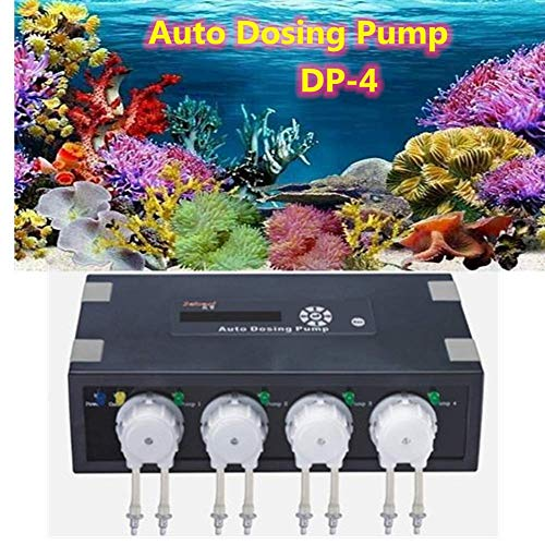 Laecabv Auto Dosierpumpe Aquarium Auto Dosing Pump Aquarium Pumpen Automatische Dosierpumpe (DP-4)