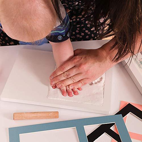 Imagen para Kit De Marco 2.0 By Smile Mind | Huella De Mano | Huellas De Pies De Bebes | Ideas Para Regalar A Un Bebe Recien Nacido | Imagenes De Huellas De Pies De Bebe | Marcos Para Fotos A Mano | 4 in 1