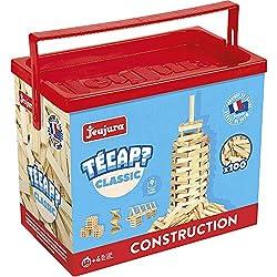 JeuJura - Jouet en bois - Construction - Tecap Classic - Baril 100 Planchettes