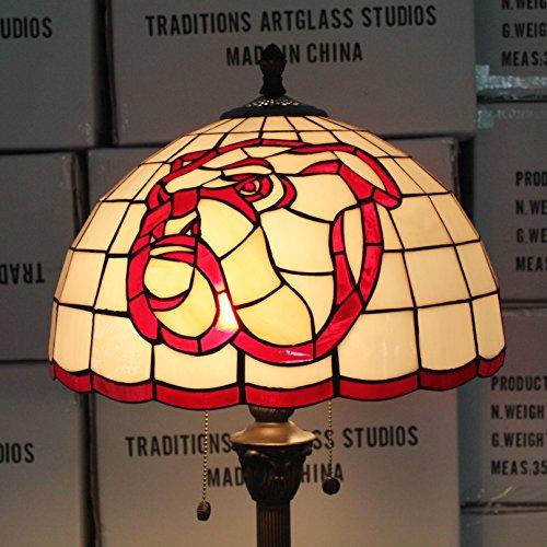 16-Zoll-NCAA Mississippi St. Bulldogs Glasmalerei Stehlampe