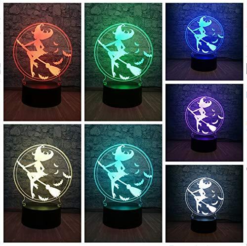 Halloween Hexe 3D LED USB Lampe Stimmung Bunte Haus Dekor Nachtlicht Bühne LightingToy Dekor Kind Teenager Urlaub Geschenke