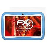 Padgene 7 Zoll Kinder Tablet Panzerfolie - 2 x atFoliX FX-Shock-Antireflex blendfreie stoßabsorbierende Panzerschutzfol