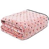 Ohana Pet Couverture pour chien en tissu polaire doux et mignon chaud Chat Chien Couverture lavable pour canapé de voiture