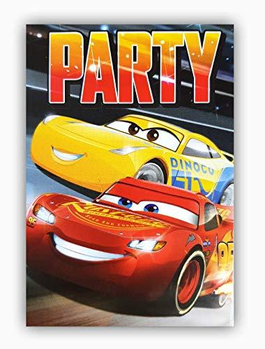 store Lizenzartikel 10 Einladungskarten Glückwunschkarten Kindergeburtstagskarten Disney Pixar Cars Deko