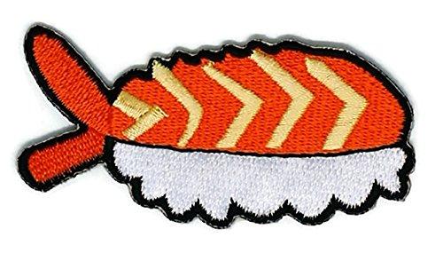 Sushi Cartoon bestickt Nähen Eisen auf Patch Cartoon Nähen Eisen auf bestickte Applikation Craft handgefertigt Baby Kid Girl Frauen Tücher DIY Kostüm Zubehör