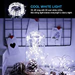 [2 Pack] BOLWEO Solar Powered String Lights,Solar Fairy Lights,16.4Ft 50LEDS,Waterproof Wire Lighting for Indoor Outdoor Christmas Tree Halloween Home Garden Decoration(Cool White) 11
