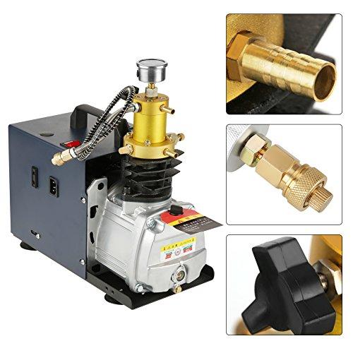 Pompe de compresseur d'air 220V, système pneumatique pneumatique de séparation des eaux usées à haute pression 40Mpa pour l'automobile, bouteille de plongée, bouteille industrielle (prise EU)