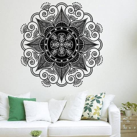 Wandaufkleber, Huihong Mandala Blume Indische Wandabziehbild Kunst Aufkleber Wandmalerei Vinyl Vinyl FüR Schlafzimmer / Wohnzimmer / Esszimmer (Color-E)
