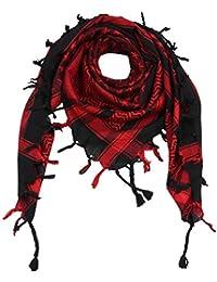 Freak Scene® Foulard palestinien keffieh en coton - motifs étoile - 100 x  100 0ee4c703046a